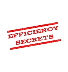 Efficiency Secrets Watermark Stamp vector
