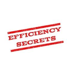 Efficiency Secrets Watermark Stamp vector image