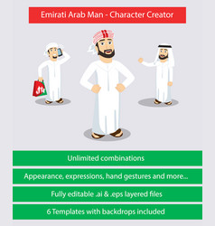 Emirati arab man - character creator vector
