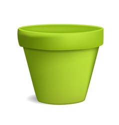 Empty flowerpot vector