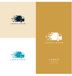 Express delivery logo designs fast truck logo vector
