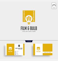 film bulb idea simple logo template icon element vector image