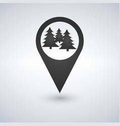 Forest location icon isolated vector