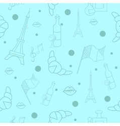 French symbols seamless pattern vector image