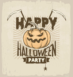 Halloween party colored vector