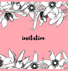 hand drawn vintage floral card vector image