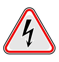 high voltage sign triangular sticker vector image