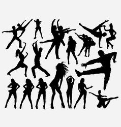 Hiphop dance silhouette vector