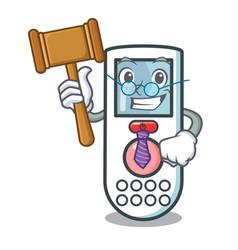 Judge remote control mascot cartoon vector
