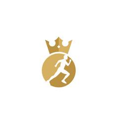 King run logo icon design vector