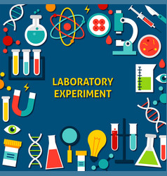 laboratory experiment paper template vector image