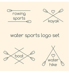 Logo rowing sports vector