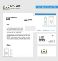 love candles business letterhead envelope and vector image