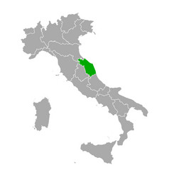 map marche in italy vector image