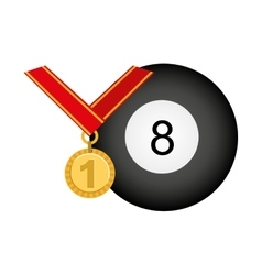 medal first place championship vector image