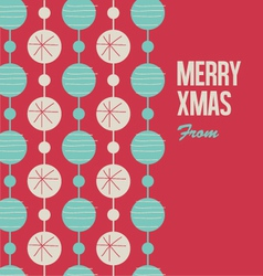 Merry christmas card with christmas balls vector