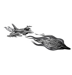 Monochromatic battle star space from a ufo vector