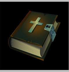 old holy bible book icon vector image