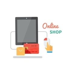 Online Shopping and E-commerce Concept vector