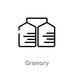 outline granary icon isolated black simple line vector image
