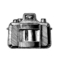 panoramic swing-lens camera vector image