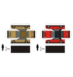 Paper models of cars vector