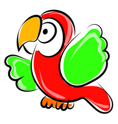 parrot drawing on white background vector image
