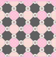 pattern flowers geometry pastel theme vector image