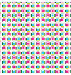 Pattern square color graphic collection on vector