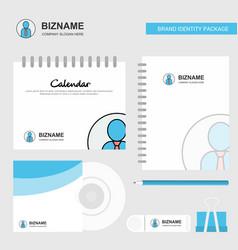 profile logo calendar template cd cover diary and vector image