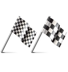 racing flag isolated on white vector image