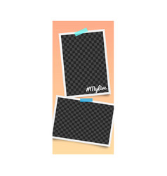 realistic editable template and photo frame for vector image