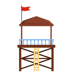 rescue tower icon flat style vector image