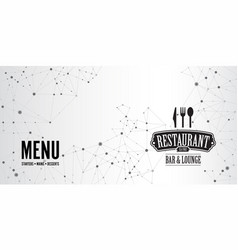 restaurant menu geometric connection background vector image