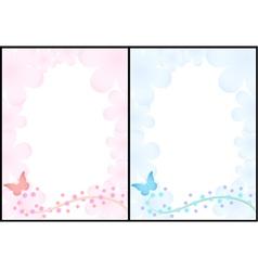 Romantic backgrounds vector