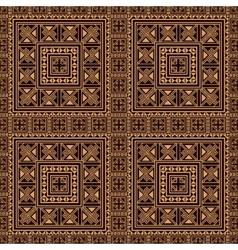 Seamless pattern background in beige and black vector image