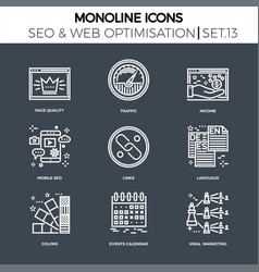 Seo and web opimization vector
