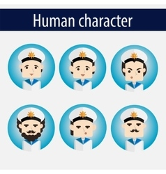 set men European character sailor vector image