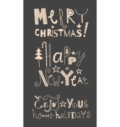 set of holidays signs vector image