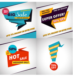 Set of sales bannes template design vector