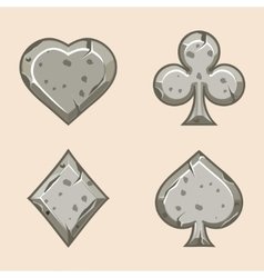 set stone icons of playings vector image