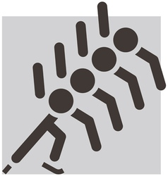 Short treck vector image
