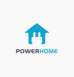 simple home and electrical logo icon template vector image