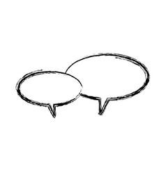 speech bubbles message communication chat vector image