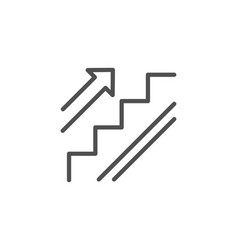 Stairs line icon shopping stairway sign vector