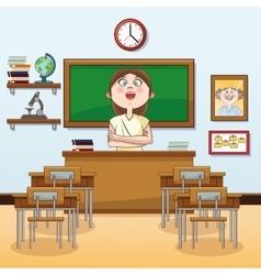 Teacher classroom back to school design vector