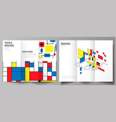 the minimal layouts modern creative covers vector image
