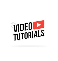Video tutorial icon webinar training online video vector