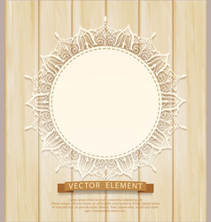 vintage background with a circle lace vector image