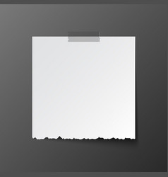 white post note paper with shadow vector image